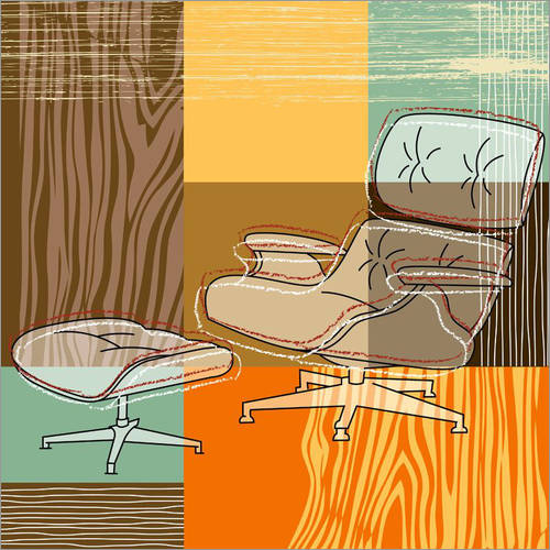 Wall sticker Lounge Chair V