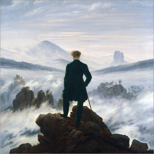 Wall sticker The Wanderer Above the Sea of Fog