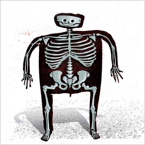 Wall sticker skeleton