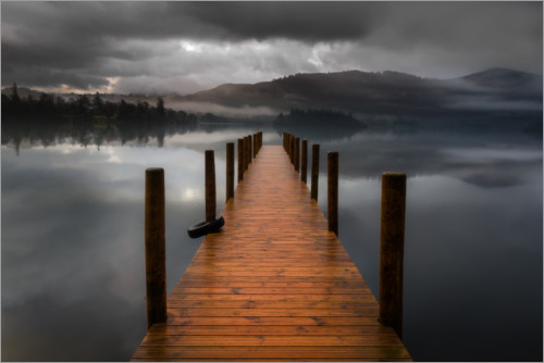 Premium poster Derwentwater Jetty in the Lake District