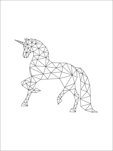 Premium poster Unicorn black