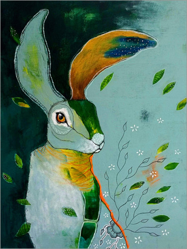 Premium poster Abstract hare in wind