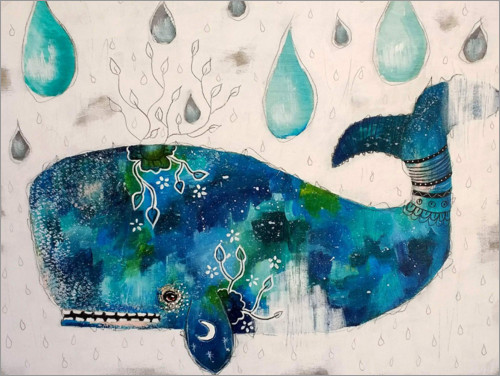 Premium poster Submerge - Abstract whale