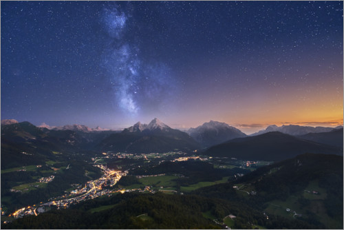 Premium poster Stars over the Alps