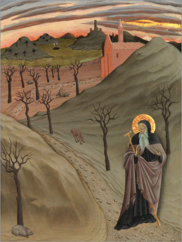 Premium poster Saint Anthony the Abbot in the wilderness