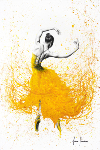 Premium poster Daisy Yellow Dancer