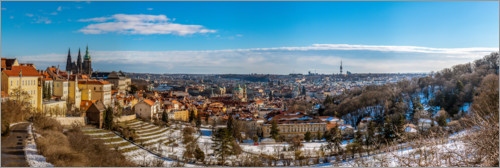 Premium poster View over Prague from the Strahov Monastery