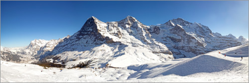 Premium poster Skiing at the Eiger