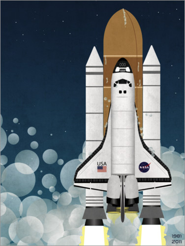 Premium poster Launch of Nasa Space Shuttle