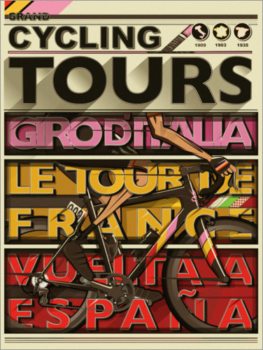 Premium poster Cycling Grand Tours