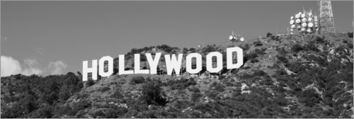 Premium poster Hollywood Sign in Los Angeles, California