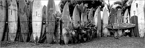 Premium poster A fence made of surfboards II