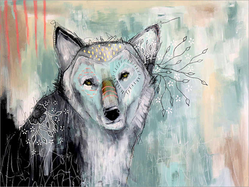 Premium poster Abstract Wolf