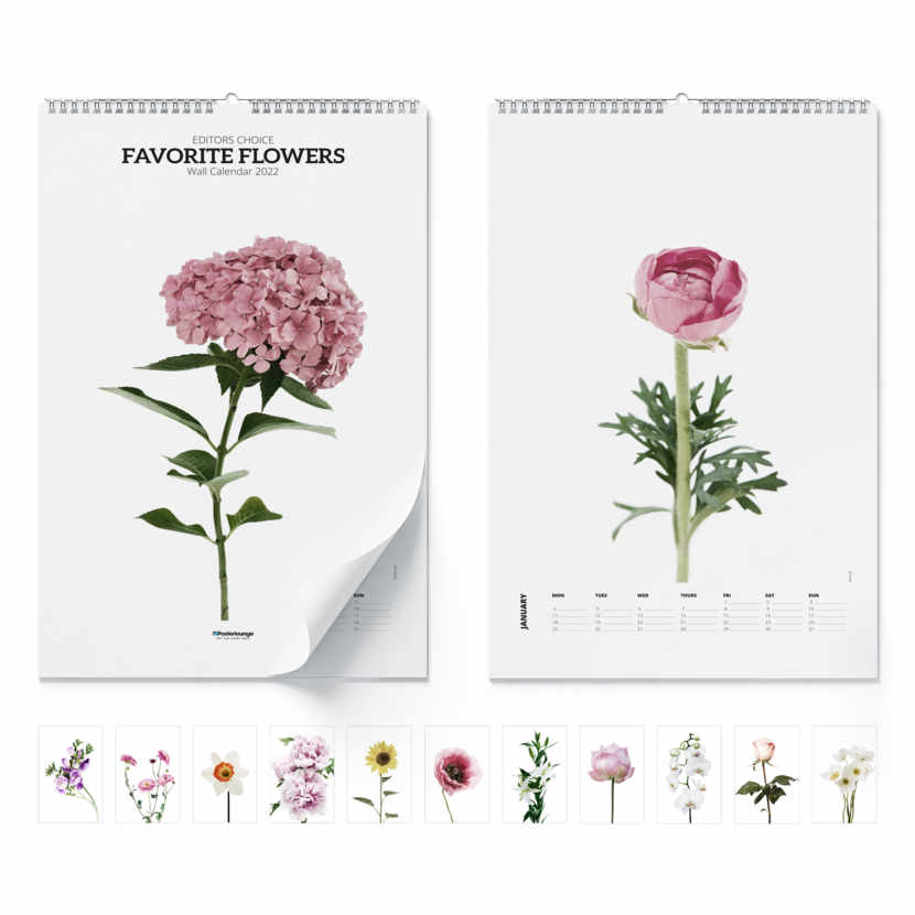 Wall calendar Favorite Flowers 2021