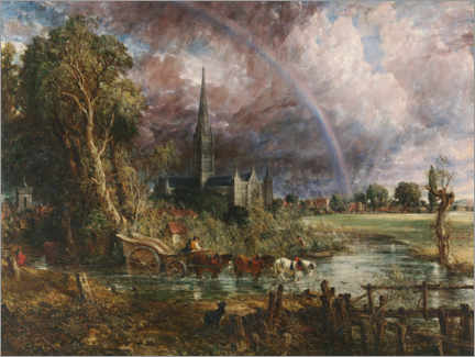 Gallery print  Salisbury Cathedral - John Constable