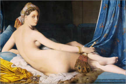 Premium poster  The Great Odalisque - Jean Auguste Dominique Ingres