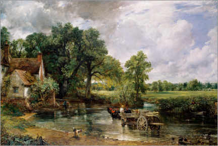 Aluminium print  The hay wain - John Constable