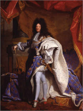 Canvas print  Louis XIV in Royal Costume - Hyacinthe Rigaud