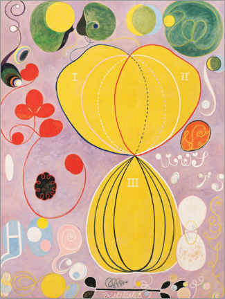 Premium poster  The Ten Largest, No. 7, Adulthood - Hilma af Klint