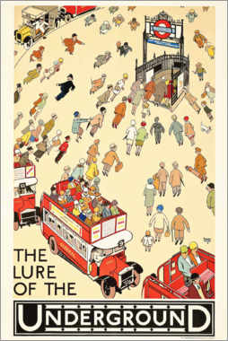 Acrylic print  The Lure of the underground - Alfred Leete