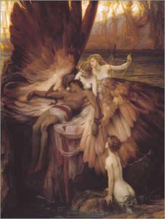 Acrylic print  Mourning for Icarus - Herbert James Draper