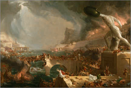 Acrylic print  Fall of Rome (Destruction) - Thomas Cole