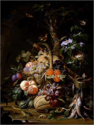 Canvas print  Still life of fruit - Abraham Mignon