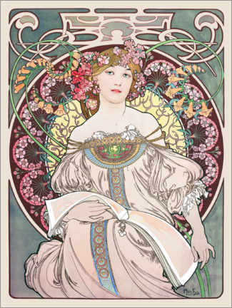 Wall sticker  Reverie - Alfons Mucha