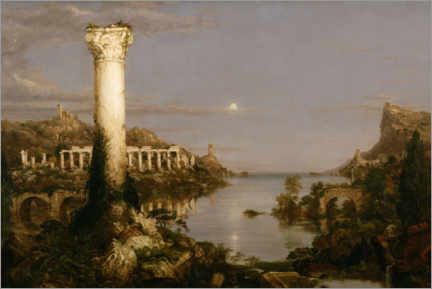 Aluminium print  Course of Empire Desolation - Thomas Cole