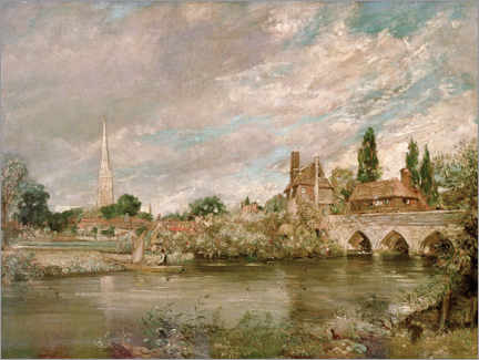 Wall sticker  Harnham Bridge and Salisbury Cathedral - John Constable