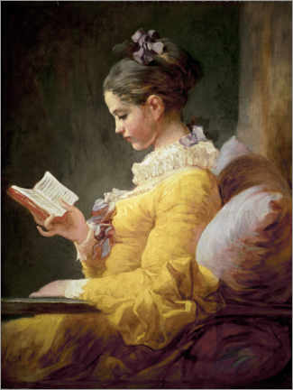 Premium poster  Young girl reading - Jean-Honoré Fragonard