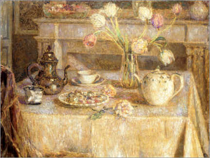 Acrylic print  The white tablecloth - Henri Le Sidaner