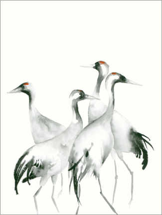 Gallery print  Four Cranes - Dearpumpernickel