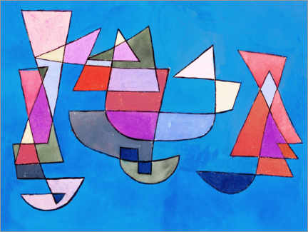 Gallery print  Sailing boats - Paul Klee