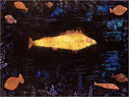 Wood print  The goldfish - Paul Klee