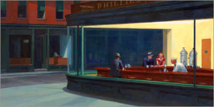 Wall sticker  Nighthawks - Edward Hopper