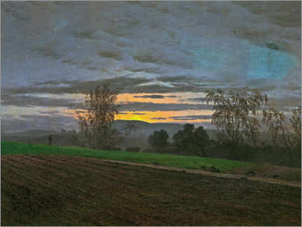 Gallery print  New-plowed field - Caspar David Friedrich