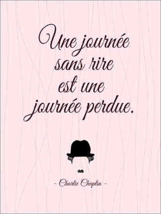 Canvas print  A day without laughter (French) - Typobox