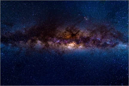 Premium poster  The Milky Way galaxy, details of the colorful core. - Fabio Lamanna