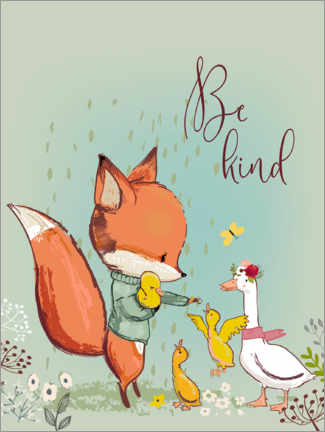 Foam board print  Fox and duckling - Kidz Collection