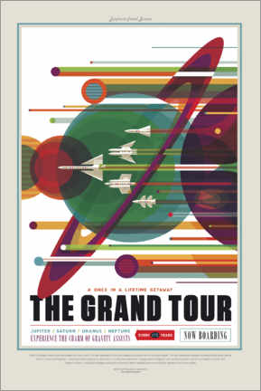 Canvas print  The Grand Tour (Space Travel)