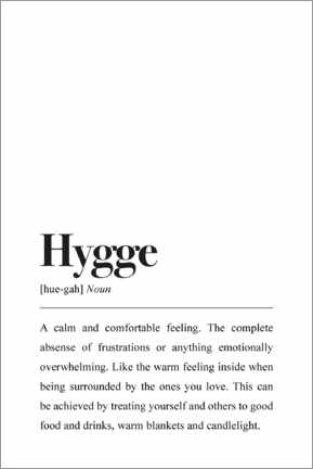 Canvas print  Hygge Definition - Pulse of Art