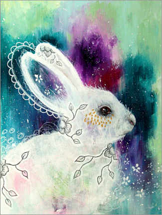 Premium poster Enchanted whisperings - whimsical rabbit