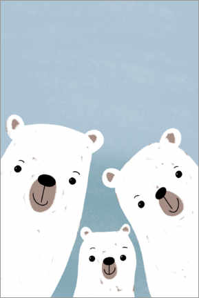 Gallery print  Polar bears family - Julia Reyelt