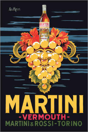 Acrylic print  Martini Advertising Poster - Advertising Collection