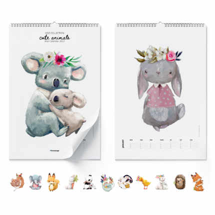 Wall calendar  Cute Animals 2021