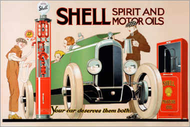 Acrylic print  Shell, Spirit and Motor Oils - Rene Vincent