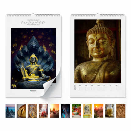 Wall calendar  Time to meditate 2021