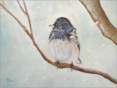 Foam board print  Bird in the Snowstorm - Ángeles M. Pomata