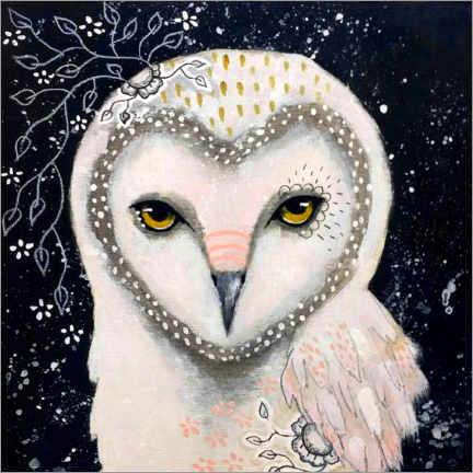 Foam board print  Melody of the owl - Micki Wilde